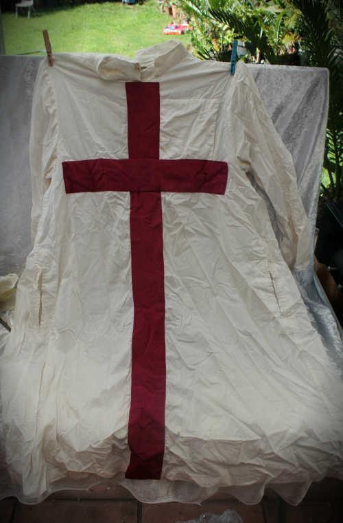 a White Masonic Robe Scottish made by Toye,Kenning & Spencer LTD Glasgow