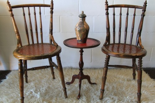Chairs Stools Footstools Two Exquisite Antique Occasional Chairs Wit