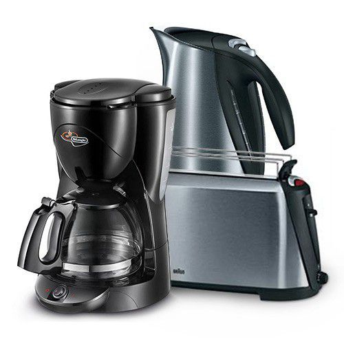 Other Kitchen, Dining & Bar - Braun - Kettle and Toaster and Delonghi - Drip Coffee Machine was ...