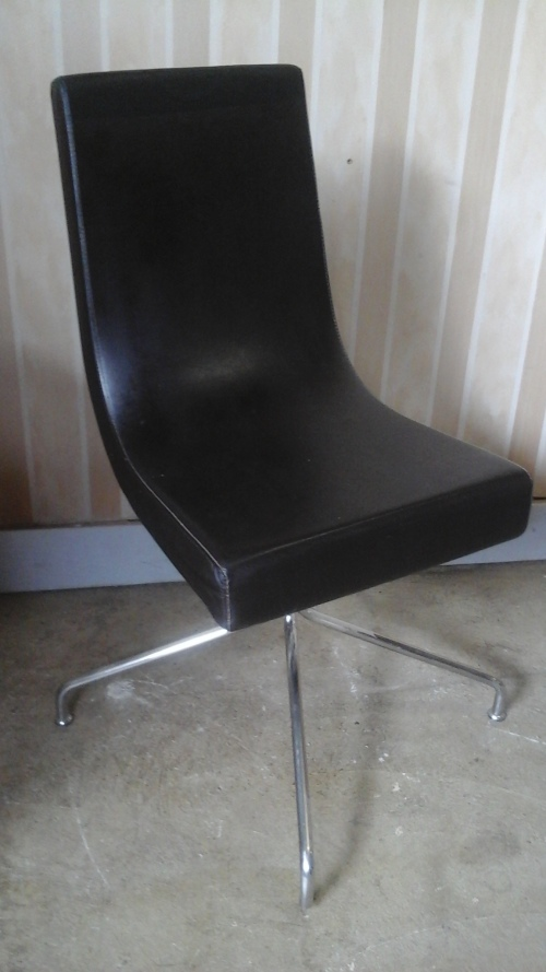 Other Furniture AWESOME STEEL AND PLEATHER OCCASIONAL CHAIR REALLY FANTAST