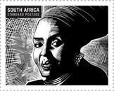 Miriam Makeba on stamp