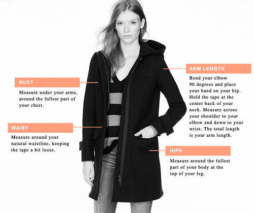 Women's Outerwear Measurements