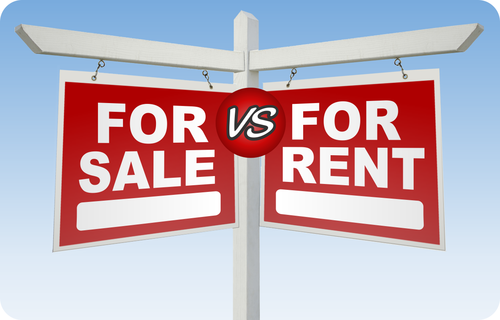 Buying a house versus renting a house