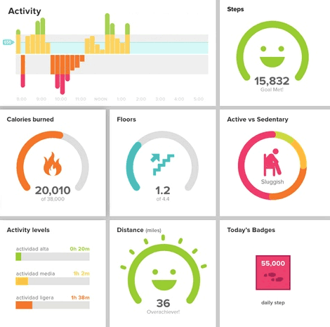 Track your activity with fitbit online tools