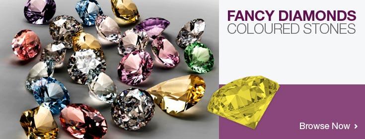 Fancy pink yellow diamonds