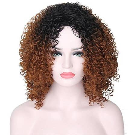 Wigs Yourwigs Wigs For Black Women Afro Kinky Wig Short Curly Wigs Black And Brown Ombre Wig Heat Was Listed For R1 198 95 On 22 Mar At 11 10 By Papertown Africa In