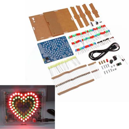 Geekcreit Ferris Wheel Model Music Spectrum DIY Kit 51 Chips Colorful LED Flash