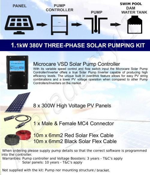 Other Electronics - 1 1kW 380V Three Phase Solar Pumping Kit