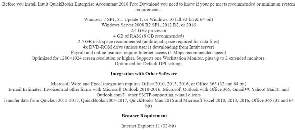 Office & Business - Quickbooks Enterprise Accountant 2018 lifetime