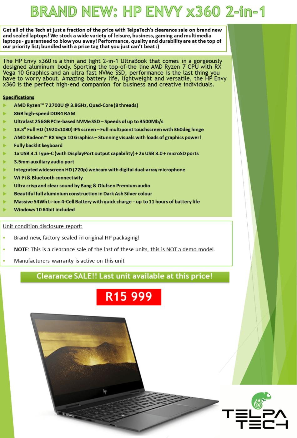 Laptops & Notebooks - BRAND NEW & SEALED: HP Envy x360 Ultrabook