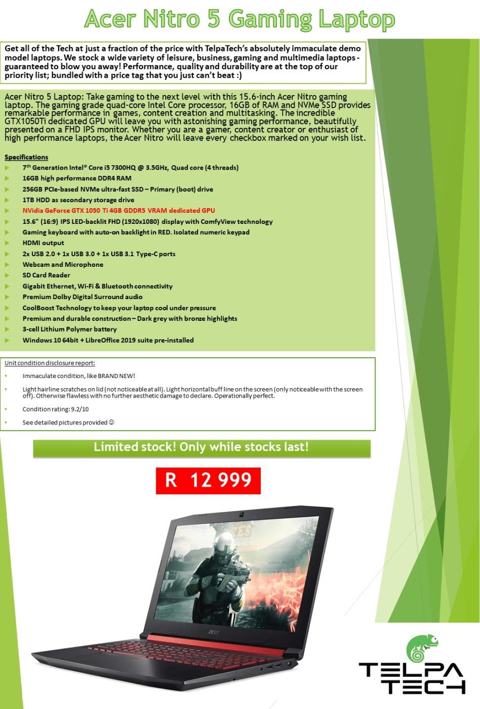 Laptops & Notebooks - SALE!! Acer Nitro 5 Gaming Laptop **Core i5