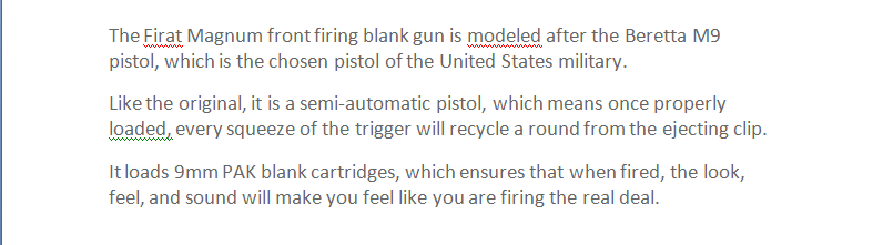 Other Shooting - Self Defence Blank Replica Gun EKOL FIRAT SIGNAL