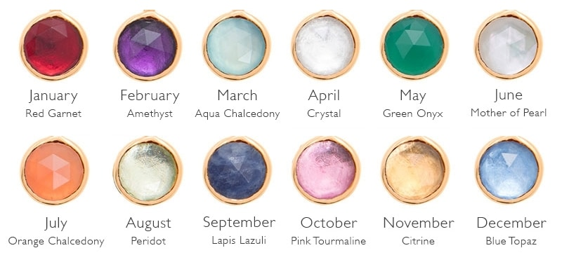 Birthstones, Star Stones and Day Stones