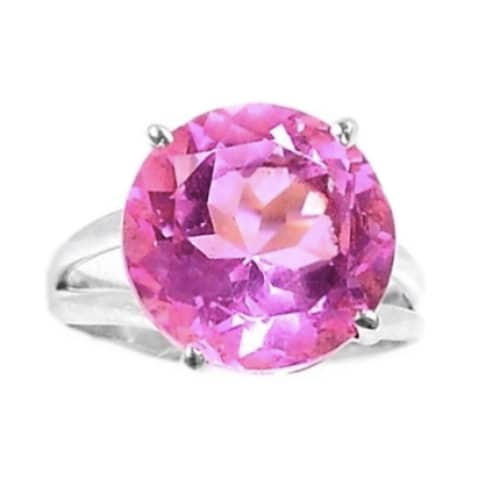 SPECTACULAR 14 MM FACETED ROUND PINK KUNZITE SOLID