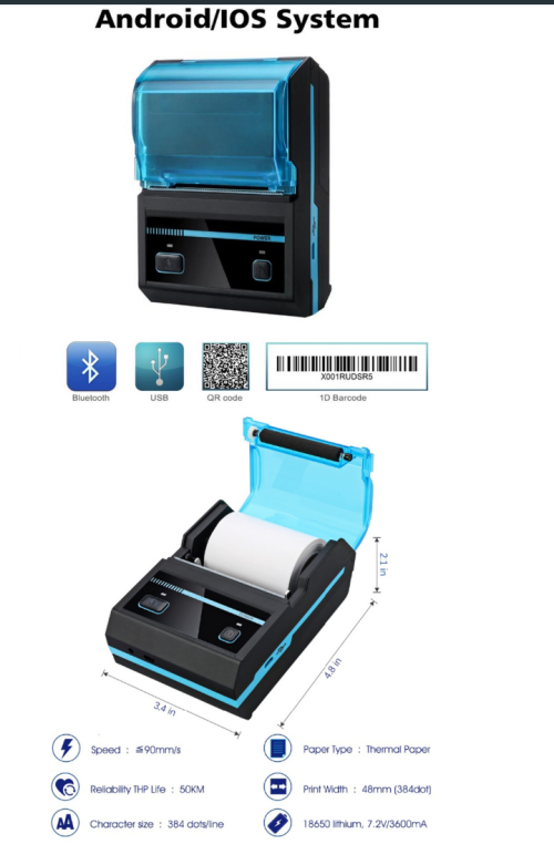 Other Electronics - Thermal Printer Bluetooth/usb for