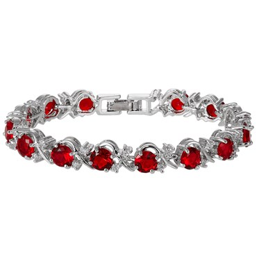 vintage red collectible kt vg rubies bracelet s y item diamond full ruby finest gold