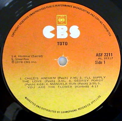 Pop Rock - TOTO - 2 vinyl LPS: Toto -1978 ( Rare & Hard to find) and