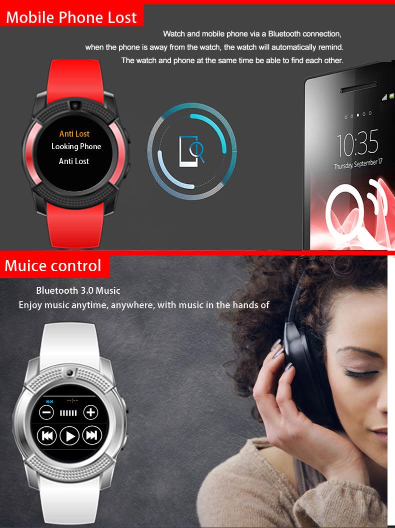 Smart Watches - V8 smartwatch - Camera, Bluetooth, GSM - was sold