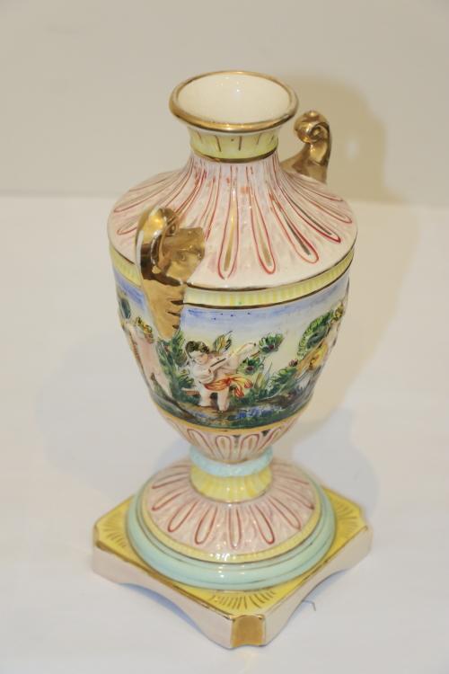 Other Porcelain Ceramics Vintage Capodimonte Vase 1947 Was