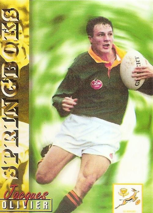 RUGBY 1997 COLLECTION by PANINI - JACQUES OLIVIER SPRINGBOKS BASE CARD 12