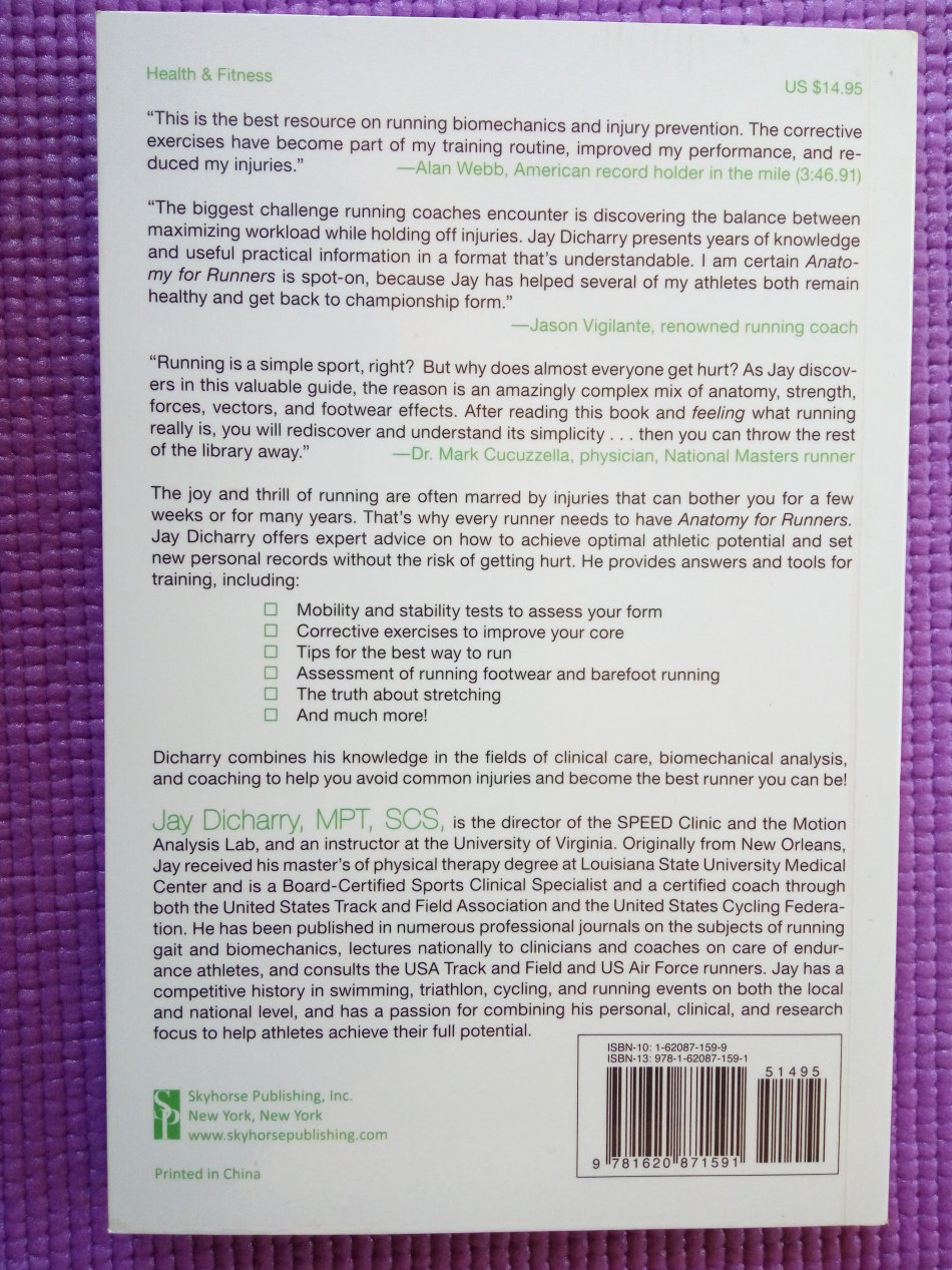 Health, Mind & Body - Anatomy for Runners by Jay Dicharry for sale ...