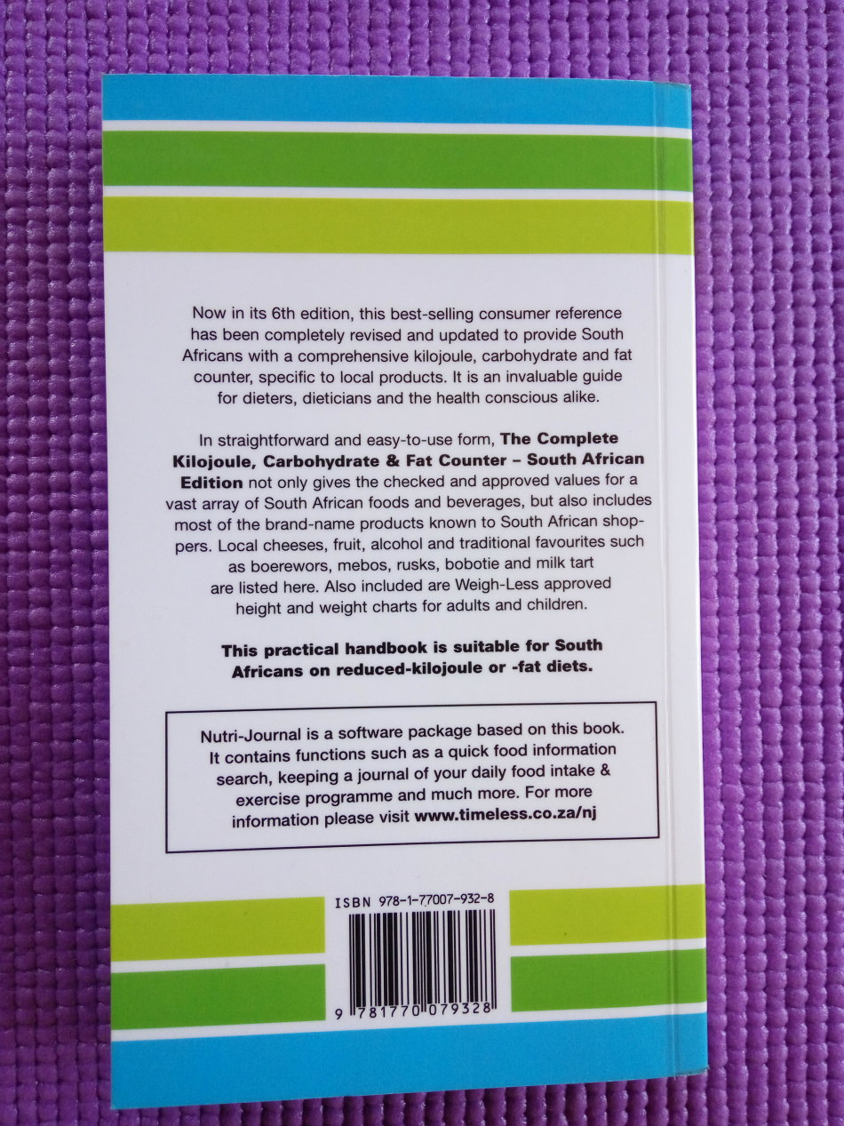 health mind body the complete kilojoule carbohydrate and fat
