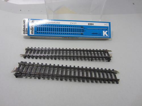 Set of 5 Marklin 5129 HO M Track Straight 70 mm