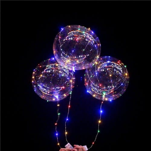 LED Light Transparent Round Balloons Was