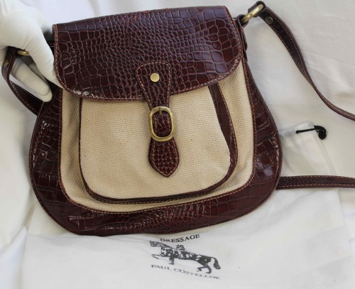 Handbags Bags Authentic Paul Costelloe Dressage Hessian Canvas Leather Cross Body Bag Was Listed For R980 00 On 27 Jan At 19 01 By Doublew In Cape