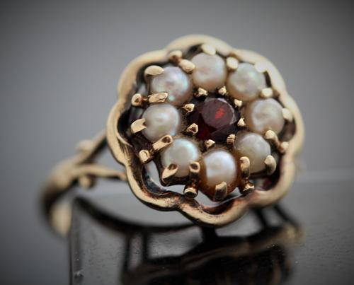 Rings Vintage Real Pearl And Pearl Ring Tudor Rose