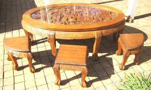 Tables - VINTAGE TEAK HAND CARVED CHINESE COFFEE TABLE ...