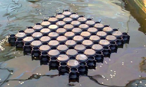 Hydroponics gl aquaponic interlocking raft system gl for Plastic floating pond plants