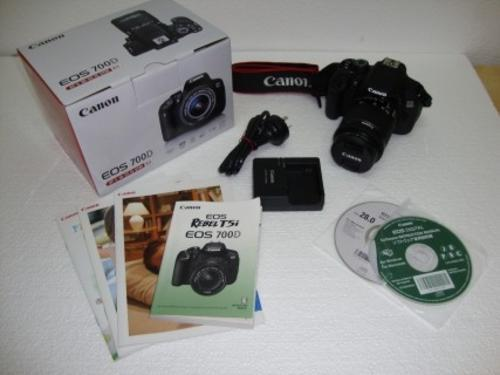 Digital SLR - Canon EOS 700D DSLR Camera complete with 55-250 Lens