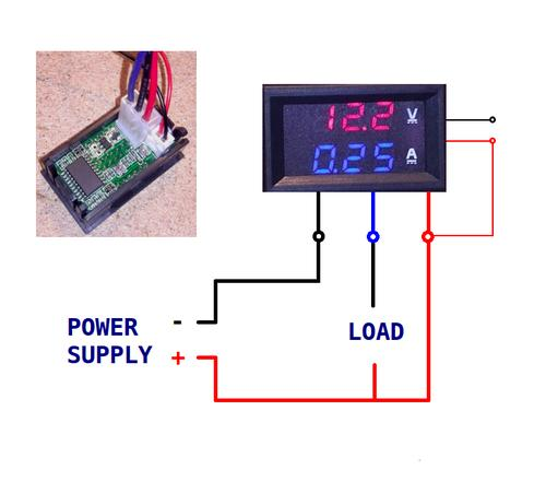 alternators led digital volt amp panel meter amp 10 a red blue was sold for on. Black Bedroom Furniture Sets. Home Design Ideas