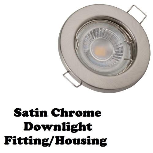 Led Light Fittings Durban: Downlight Fittings: Fixed Satin Chrome