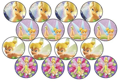 Tinkerbell Cake Cupcake Toppers