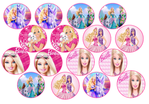 Cake Decorating Barbie Edible Picture Cupcake Toppers