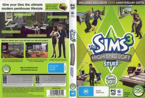 games the sims 3 expansion pack high end loft as new. Black Bedroom Furniture Sets. Home Design Ideas