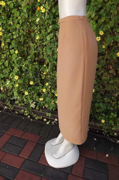 53fce74209 Ankle length dark mustard colour pencil skirt by Aspire in size 36/12.High  slit at back.As new.
