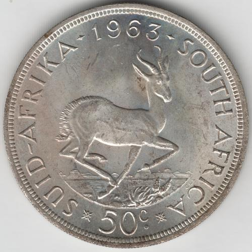 1963 RSA silver crown 50 cent - uncirculated - as per photo
