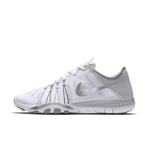 9fd0d60c75d59 Original Women s NIKE Free TR 6 White Metallic Silver 833413 100 UK Size  4.5 (SA 4.5)