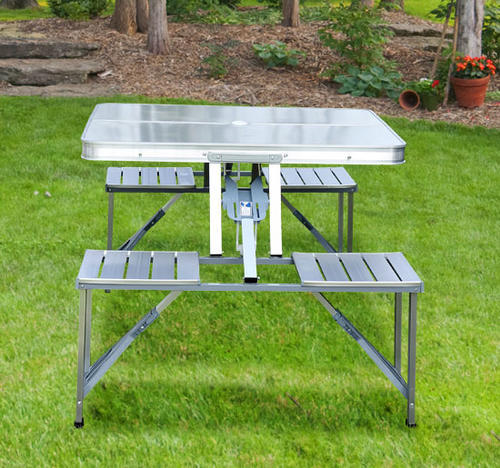 Folding aluminum picnic table image collections table decoration ideas chairs aluminum picnic table folding table was listed for r64900 you years of pleasure whether out watchthetrailerfo