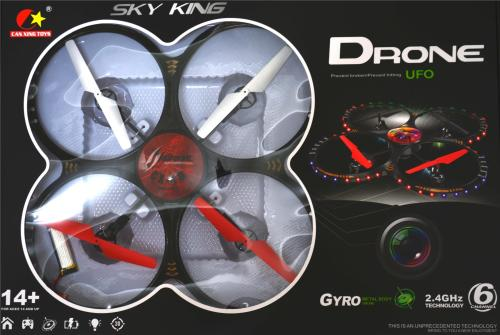 Helicopters - quadcopter, RC 2 4GHz 6 channel Sky King UFO CX-19