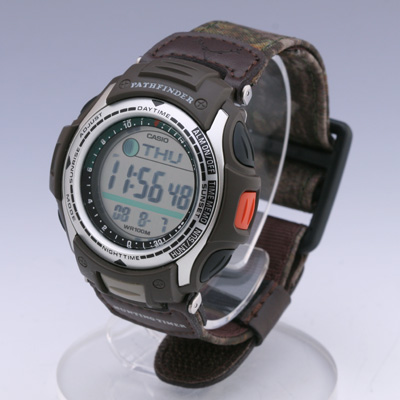 Men 39 s watches casio pathfinder hunting timer auto for Casio pathfinder fishing watch