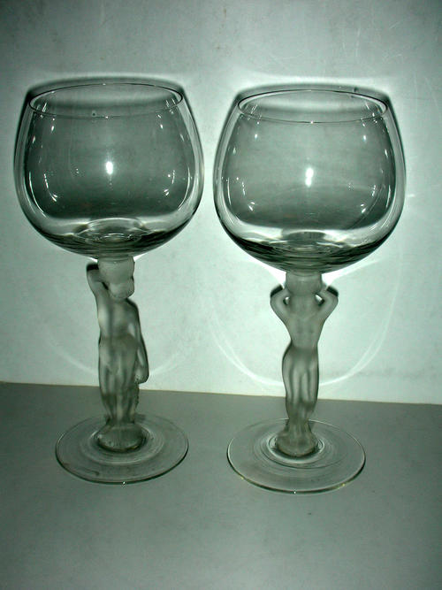 BAYEL BACCHANTE (FROSTED NUDE) WINE GLASS 7.25 Tall | eBay