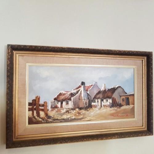 Paintings An Original Signed Marie Vermeulen Landscape Painting