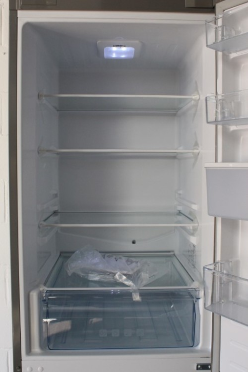 An awesome Hisense 323 litre mirror-front upright fridge-freezer combo with  water dispenser
