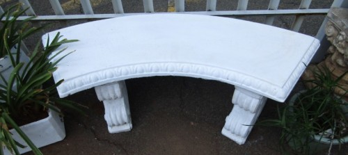 Fine A Gorgeous Painted White 2 Seater Concrete Curved Bench Stunning As A Feature Piece In A Garden Bidorbuy Co Za Evergreenethics Interior Chair Design Evergreenethicsorg
