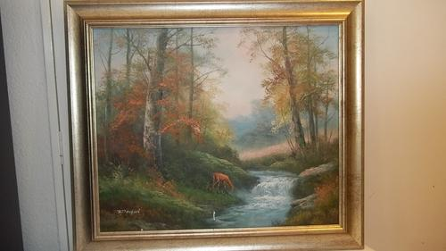 Oils Beautiful Original Oil On Board Painting By Well