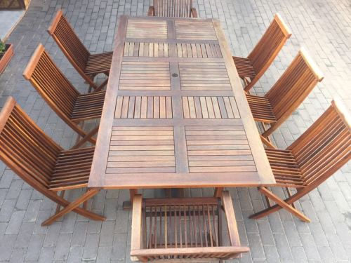 Patio sets picnic tables 8 seater outdoor teak table for 12 seater outdoor table and chairs
